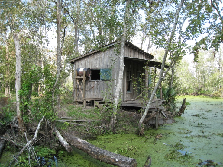 a shack in the bayou of Slidell, Lousiana