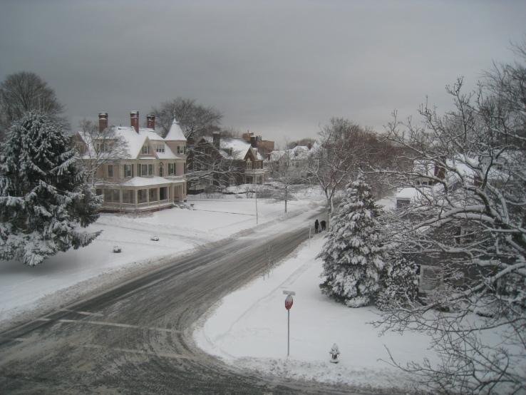 Ocean Street after a storm
